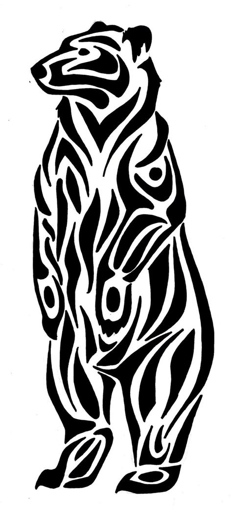 tribal bear tattoo best 25 tribal ideas on wolf paw