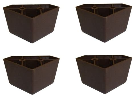 legs for sofas set of 4 universal dark brown plastic furniture triangle
