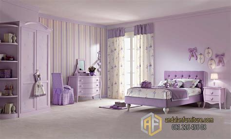 Tempat Tidur Utama Minimalis tempat tidur shabby chic minimalis purple pink set