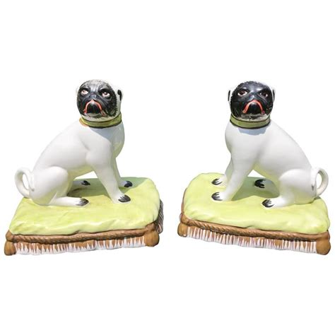 pair of pugs pair of pugnacious porcelain pugs for sale at 1stdibs