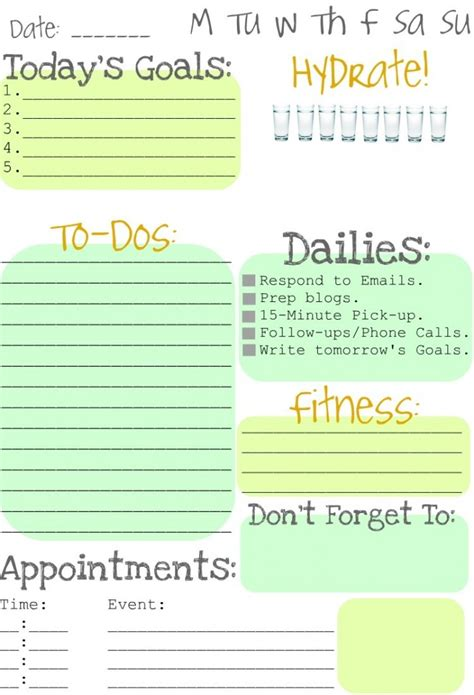 Printable Daily To Do Calendar | itmom spotted free printable daily to do list