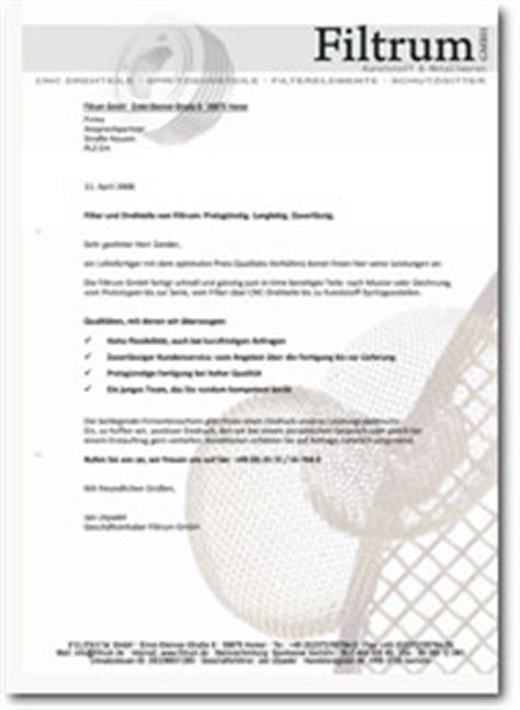 Anschreiben Firma Vorstellen akquiseanschreiben mailings