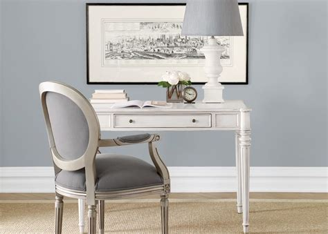 Ethan Allen Home Office Desk A Delicate Desk And Chair With A Contemporary Color Scheme Ethanallen Ethanallenbellevue