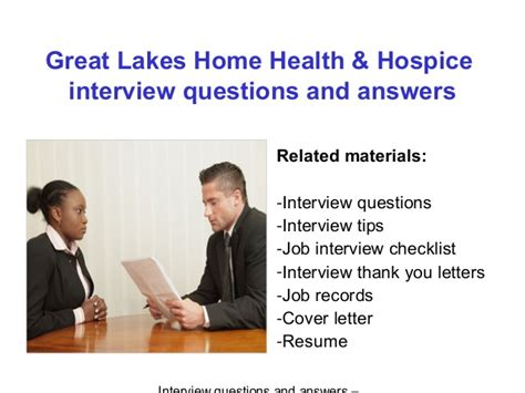 great lakes home health hospice questions and answers