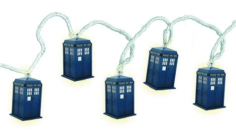 dr who tardis string christmas lights strand new