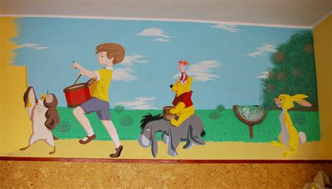 winnie the pooh painting wall painting winnie the pooh by kelwen on deviantart