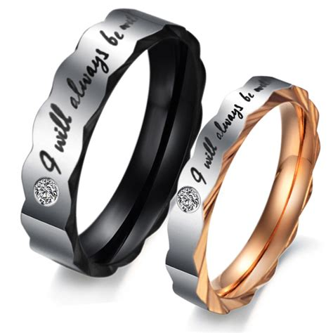 titanium stainless steel mens promise ring