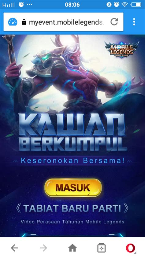 my event mobile legend cara mendapatkan hadiah di my event mobile legends 2018