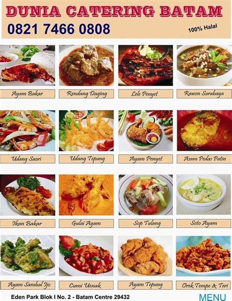 menu catering catering batam