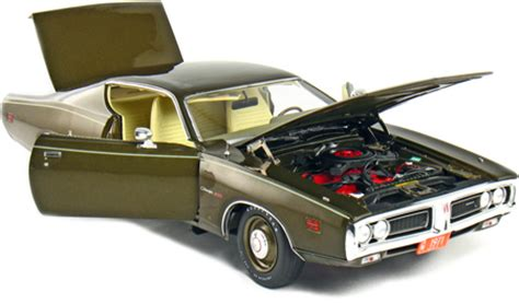 Ertl American 1971 Cuda 383 Diecast 1 18th Scale 1971 dodge charger 500 gold metallic ertl american