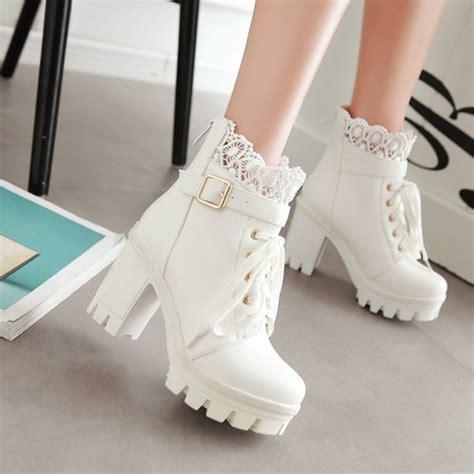 Cutie Bootie Shoes White shoes boots 183 kawaii harajuku fashion 183