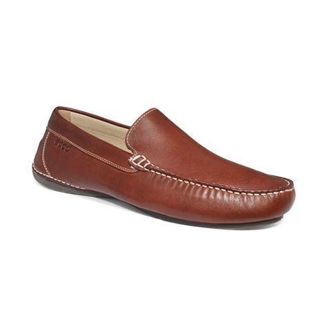 ecco loafer ecco elmo classic moc loafers in brown for cognac lyst
