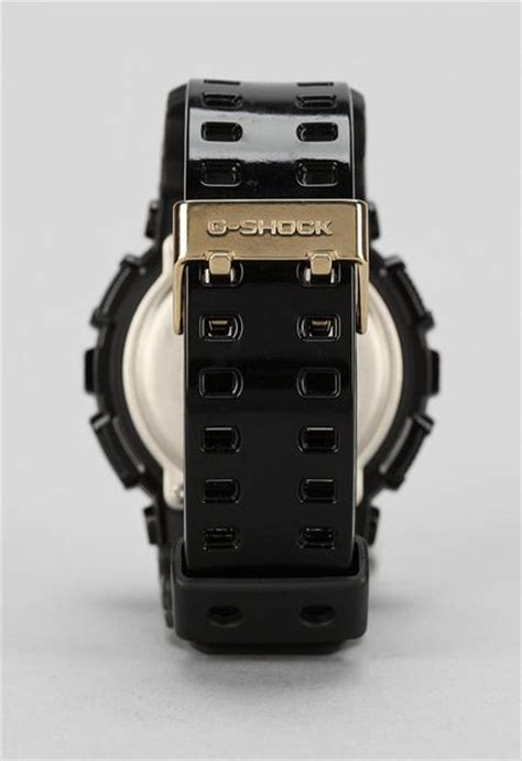 G Shock Gsd 100 Black g shock gd 100 black gold in black lyst