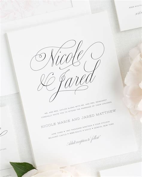 invitation script garden script wedding invitations wedding invitations by shine