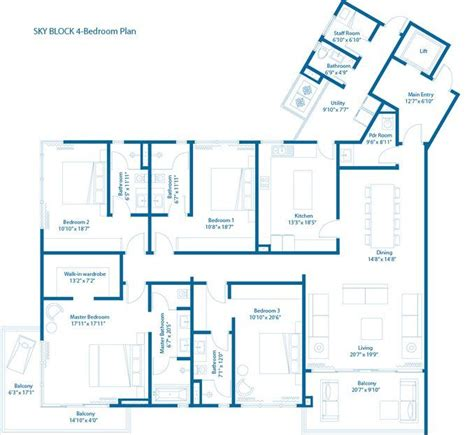 embassy floor plan embassy lake terraces 3 4 bedroom apartments hebbal