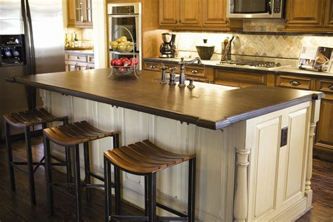 interesting kitchen island countertop with granite