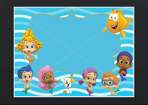 bubble guppies blank invitation birthday thank by