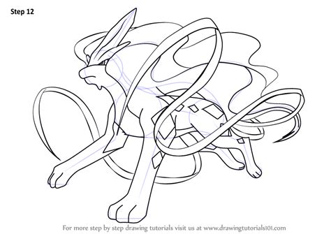 pokemon coloring pages suicune step by step how to draw suicune from pokemon