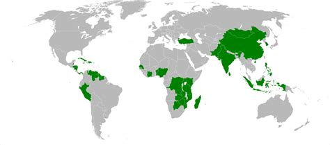 Countries Led By by G33 Developing Countries