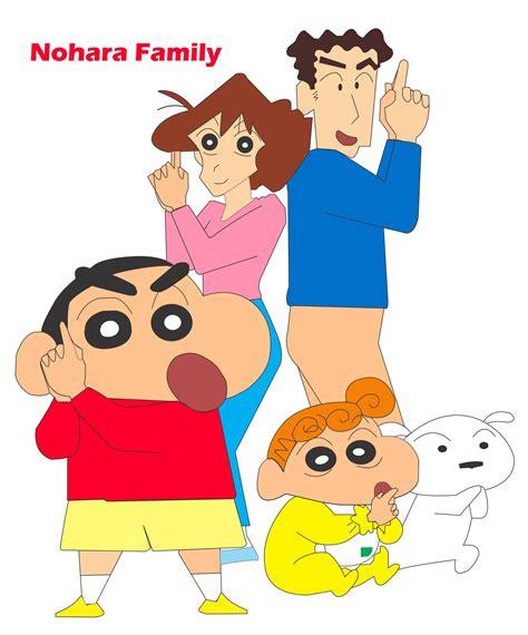 Crayon Shin Chan Family by corel draw design shin chan nohra family shinchan