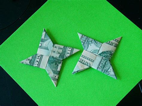Throwing Origami - dollar bill shuriken origami now with