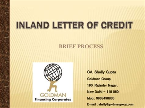 Inland Letter Of Credit Charges Of Canara Bank Letter Of Credit Inland
