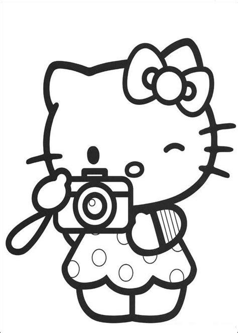 hello kitty baseball coloring pages kleurplaat hello kitty camera kleurplaten pinterest
