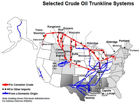 map of crude pipelines in the us visualizing the actual price of gasoline across the u s