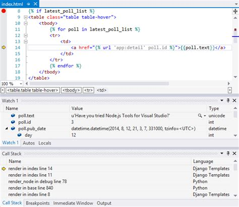 templates for django django web project template for python visual studio