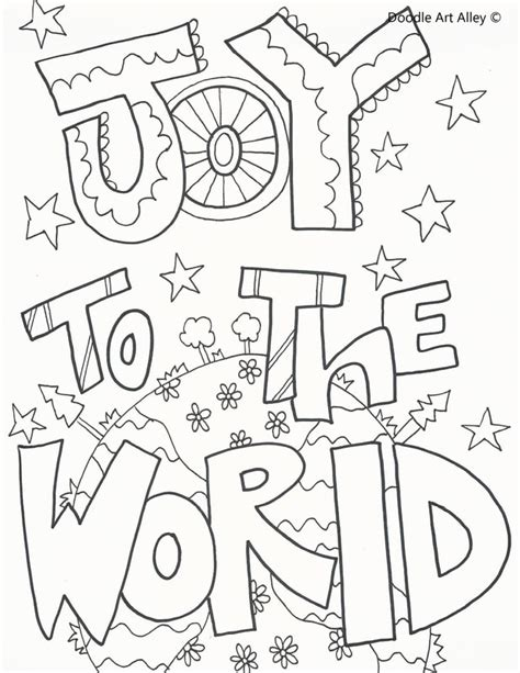 coloring pages for joy holiday coloring pages doodle art alley