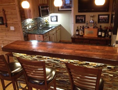 log bar tops log bar with liquid glass finish custom made log bars