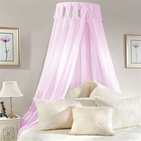 pink bed canopy princess bed canopy coronet corona pink lilac voile girls