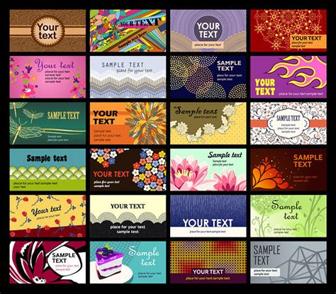 Range Card Template by A Wide Range Of Card Template Vector Material 2