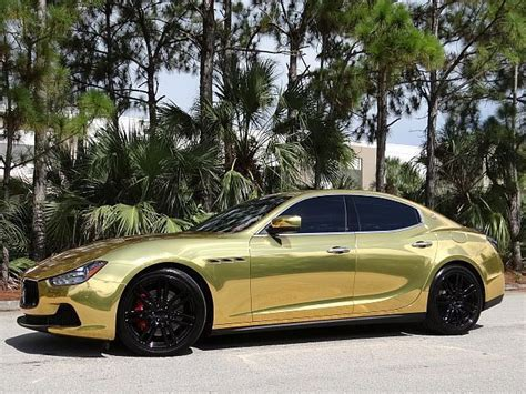 maserati ghibli wrapped 2014 maserati ghibli s q4 custom gold wrap lots of options