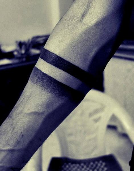 solid line tattoos 70 armband designs for masculine ink ideas