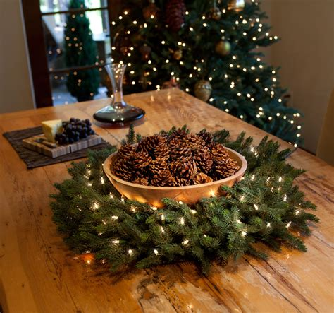 christmas table wreath centerpieces where to place a wreath using wreaths indoors balsam hill artificial trees