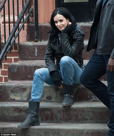 Jones Gets The Boot by Krysten Ritter As Jones On Set Of New