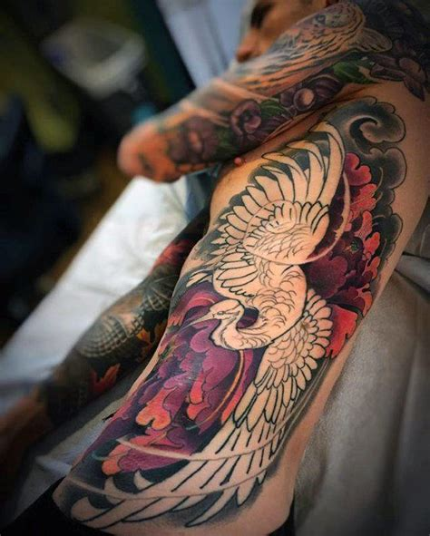 exotic tattoos for men 40 japanese crane designs for bird ink ideas