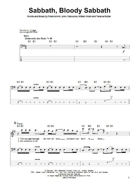 my bloody tab sabbath bloody sabbath by black sabbath bass tab