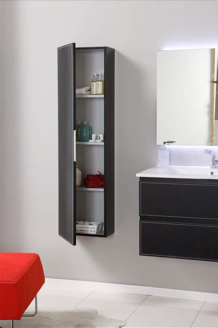 wall mounted bathroom vanity with storage cabinet