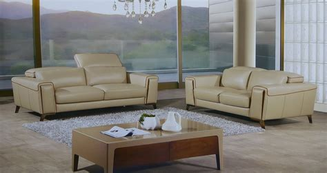 tan sofa set volo 2 piece italian top grain tan leather sofa set