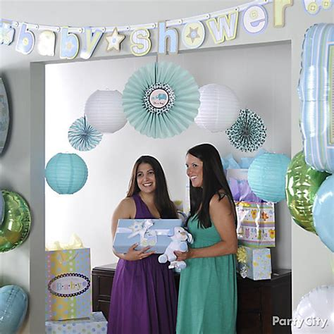 Boy Baby Shower Photo Backdrop Idea   Party City