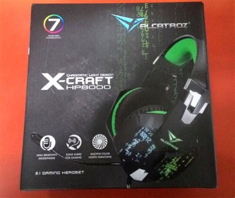 Headsed Gaming X Craft Hp 8000 Usbled jual headset gaming x craft hp 8000 headphone sonicgear