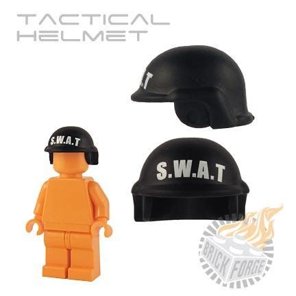 Part Lego Minifigures Headgear Helmet 246 brickforge tactical helmet black swat print
