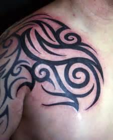 chest shoulder tribal tattoos cool tattoos bonbaden