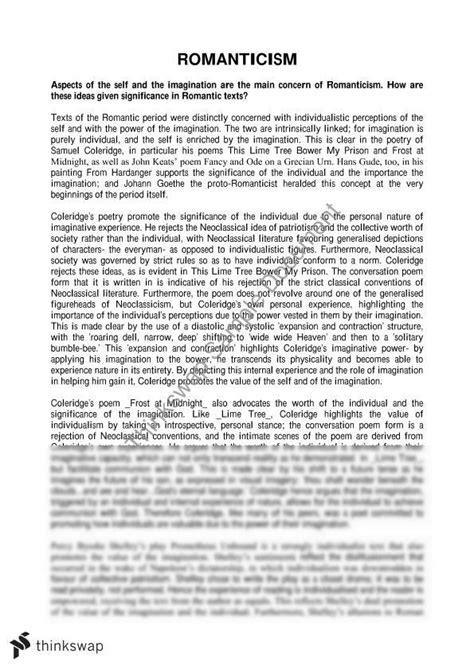 Romanticism Essay by Romanticism Essay Introduction