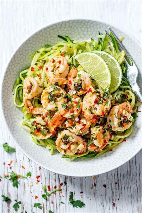 cilantro lime shrimp with zucchini noodles eatwell101