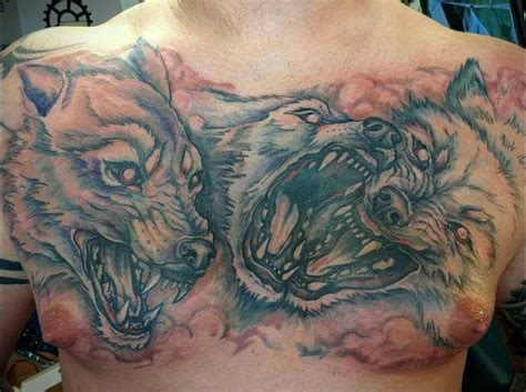 tattoo chest wolf amazing wolf tattoo idea best designs with meaning