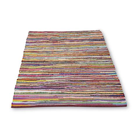 60 X 40 Quot Reversible Rag Rug Multicolored Shop Your Way 40 X 60 Area Rug