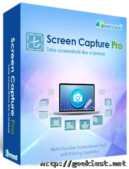 Free License Giveaway - free apowersoft screen capture pro license giveaway geekiest net